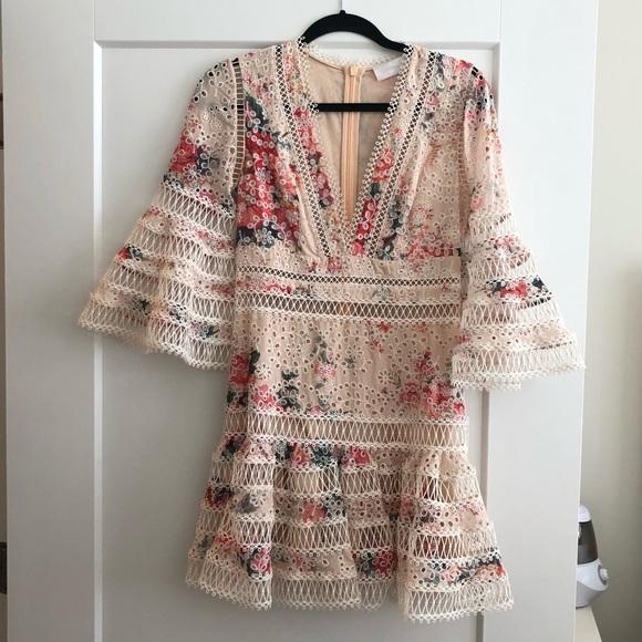 a693f8ff5e25c Zimmermann Dresses | Laelia Diamond Flutter Eyelet Vneck Mini Dress ...